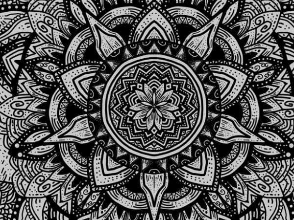 Mandala Illuminati T-Shirt Design