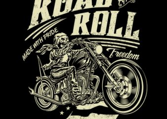 ROAD AND ROLL t shirt design online