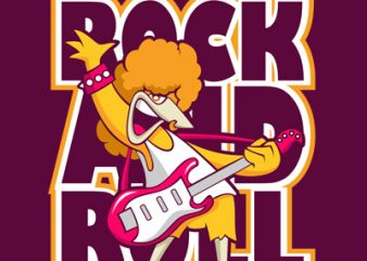 ROCK AND ROLL graphic t-shirt design