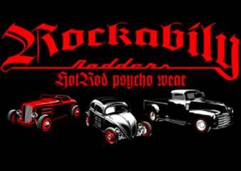 ROCKABILLY vector shirt design