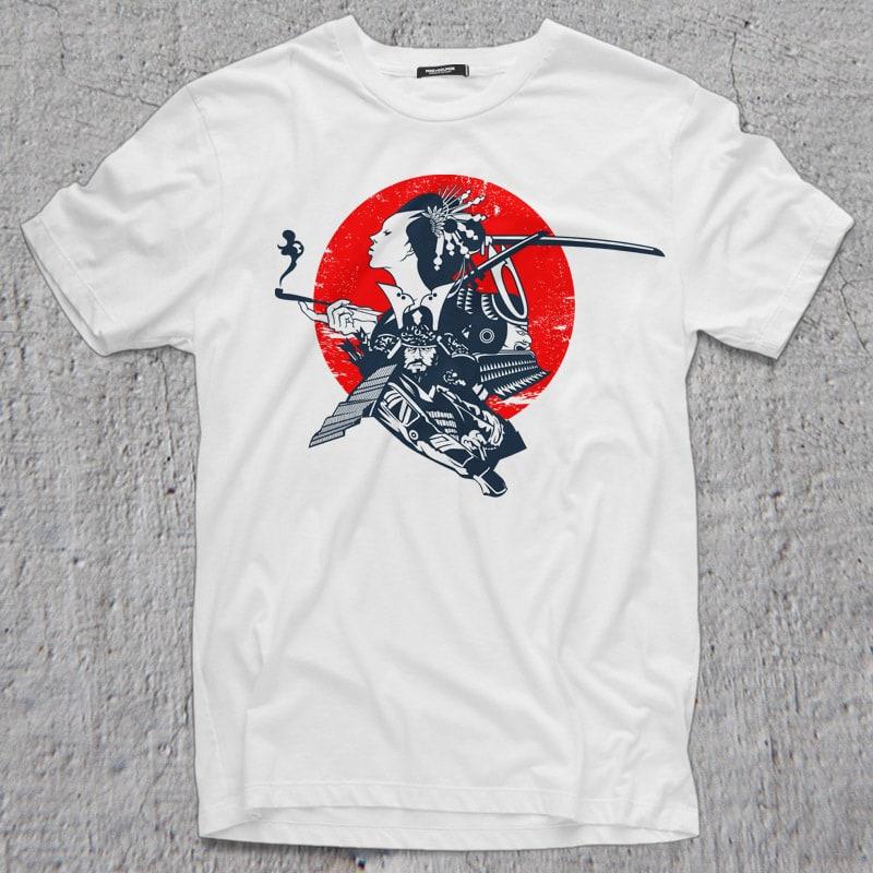 SAMURAI buy t shirt design