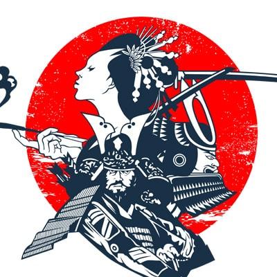 SAMURAI tshirt design vector