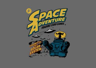 Space Adventure t shirt template vector