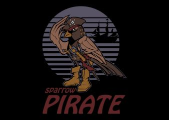 sparrow pirate buy t shirt design for commercial use