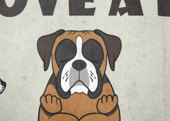 Keep calm and love a boxer t shirt vector art