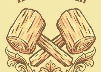 wood carving shirt design
