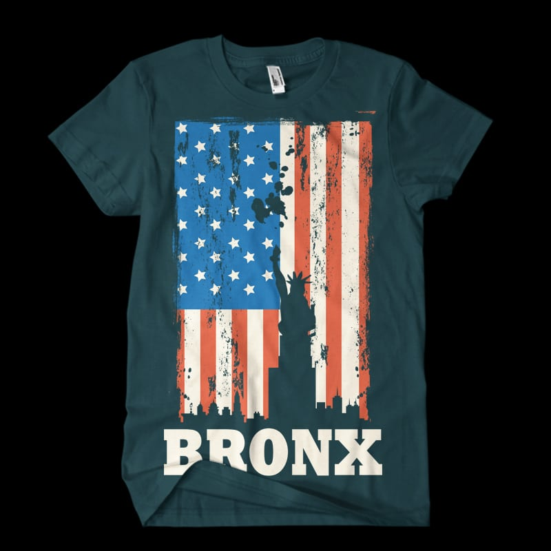 bronx Vector t-shirt t shirt designs for printful