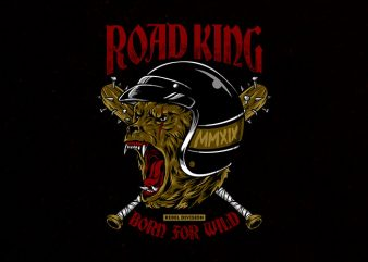 road king Graphic t-shirt design