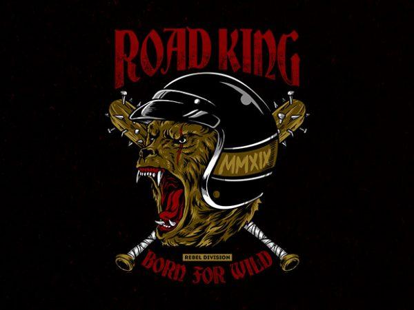 road king Graphic t-shirt design