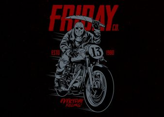friday co Graphic t-shirt design