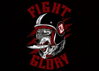 fight for glory tshirt design