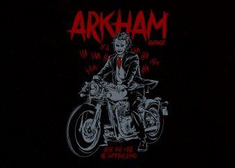 arkham garage Graphic t-shirt design