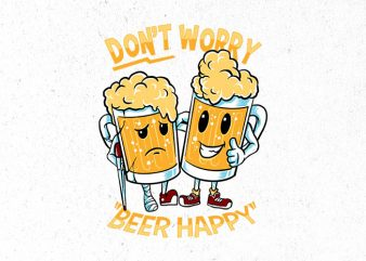 happy beer Graphic t-shirt design