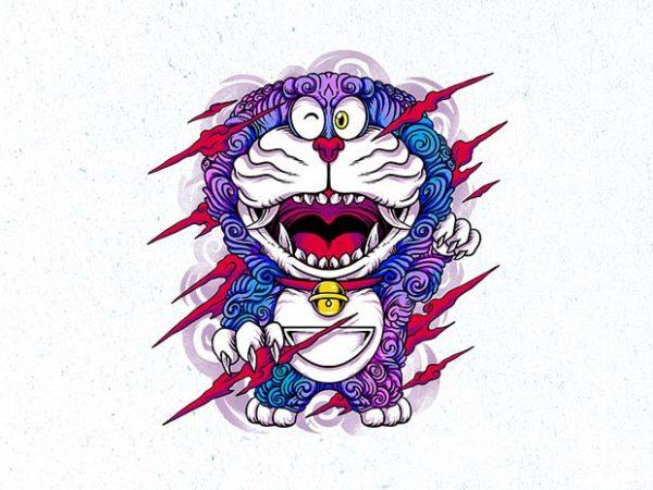wild neko Graphic t-shirt design