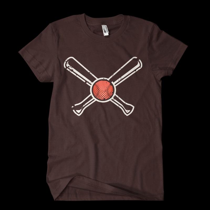 Vintage Baseball Vector t-shirt t shirt designs for printful