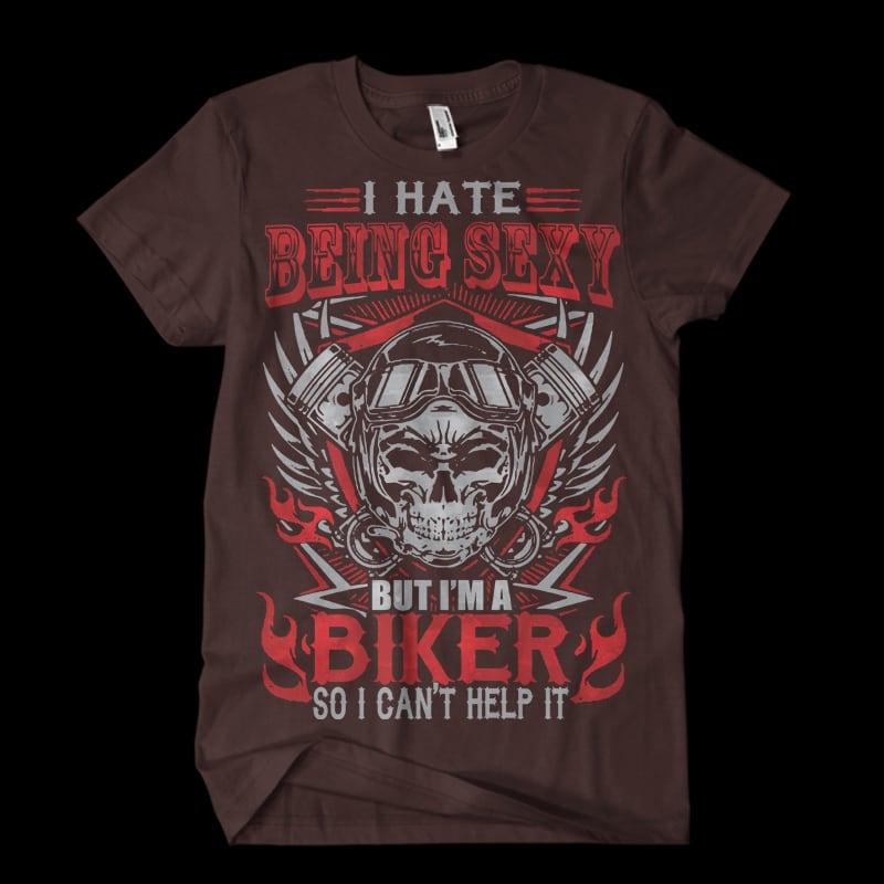 sexy biker t shirt designs for printful