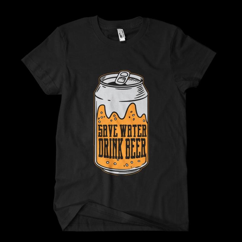 beer can Vector t-shirt buy t shirt designs artwork