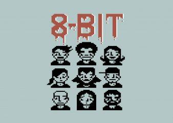 8 Bit Graphic buy t shirt design