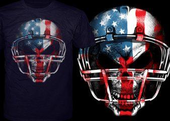 American Football t shirt vector