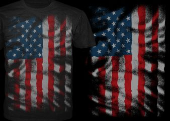 American Line vector t-shirt design template