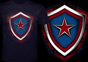 American Star Shield t shirt vector