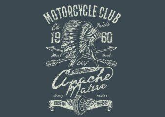 Apache Motor Club t shirt design to buy