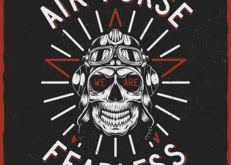 Air Force. Vector T-Shirt Design