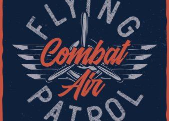 Flying Patrol. Vector T-Shirt Design