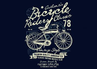 Bicycle vector t-shirt design