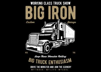 Big Iron vector t-shirt design template