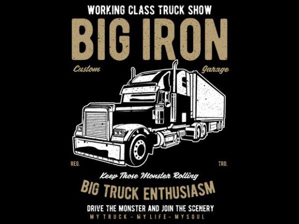 Big Iron t shirt template