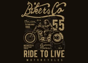 Bikers Co t shirt template
