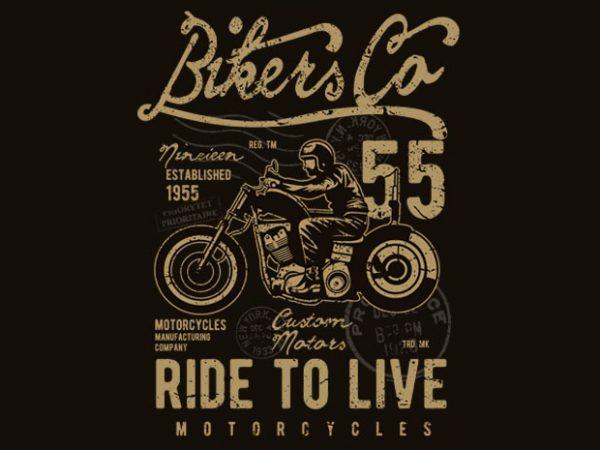 Bikers Co vector t-shirt design