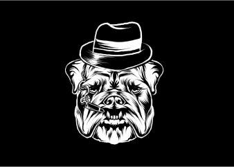 Bulldog Mafia t shirt design template