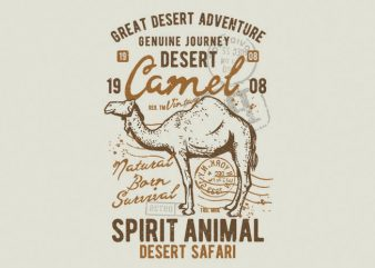 Camel print ready shirt design