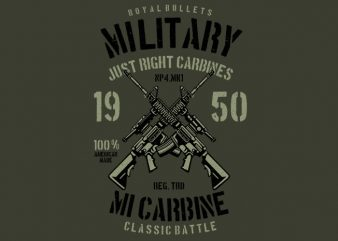 Carbine buy t shirt design for commercial use
