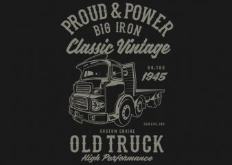 Classic Vintage Truck buy t shirt design for commercial use