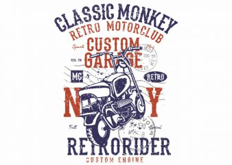 Classic Monkey buy t shirt design