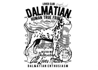 Dalmatian t shirt vector illustration