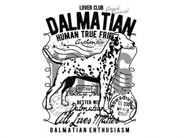 Dalmatian graphic t-shirt design