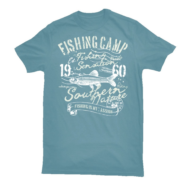 Fishing Camp t-shirt designs for merch by amazon