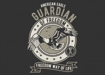 Guardian Eagle t shirt design template