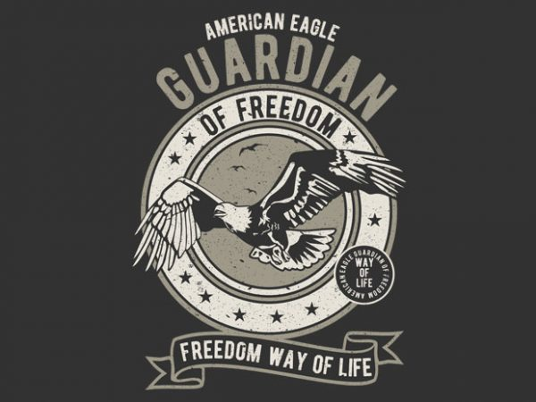Guardian Eagle t shirt design png