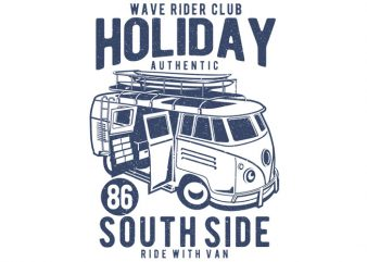 Holiday Surf Van buy t shirt design artwork