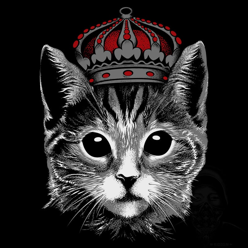 King Cat buy tshirt design