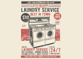 Laundry Service print ready shirt design