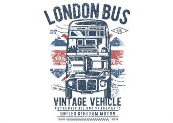 London Bus t shirt vector graphic