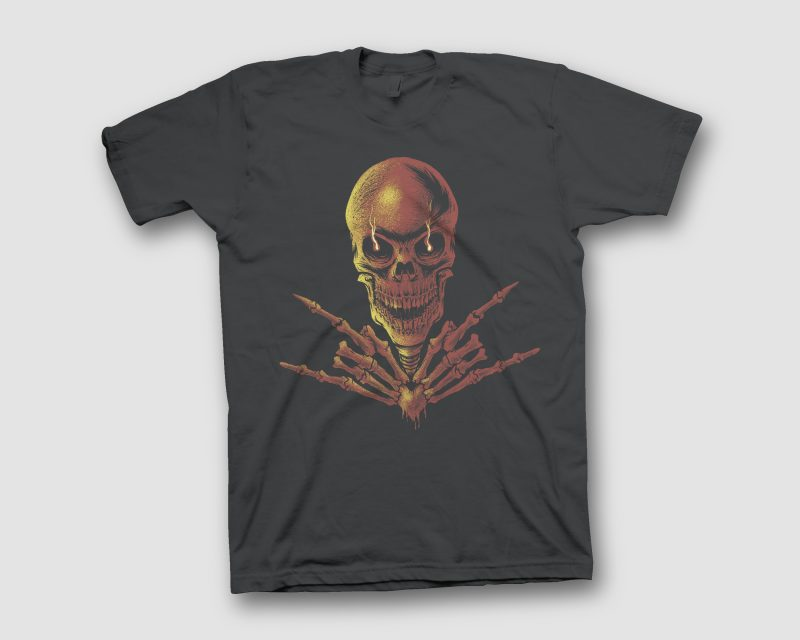 METAL SKULL t shirt designs for printful