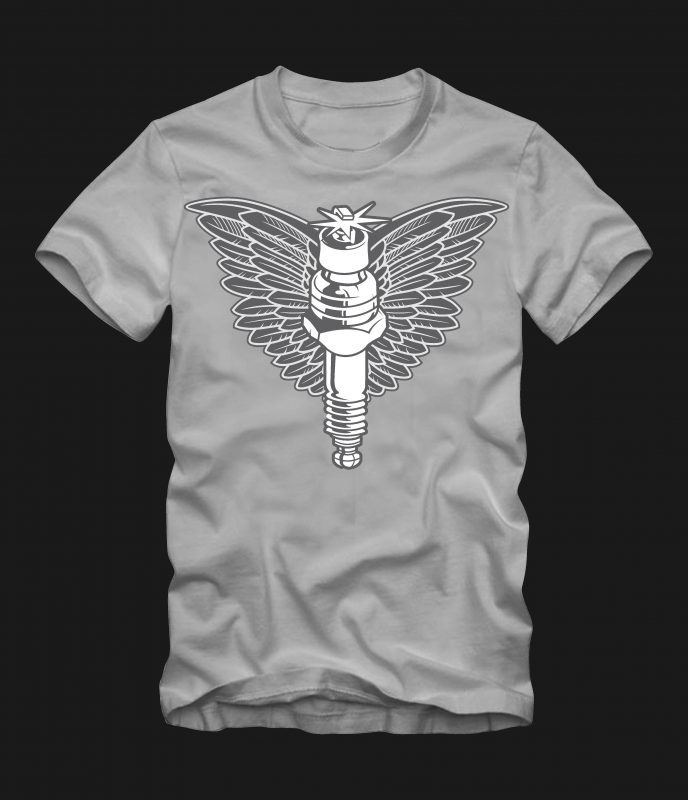 spark plug t-shirt designs for merch by amazon