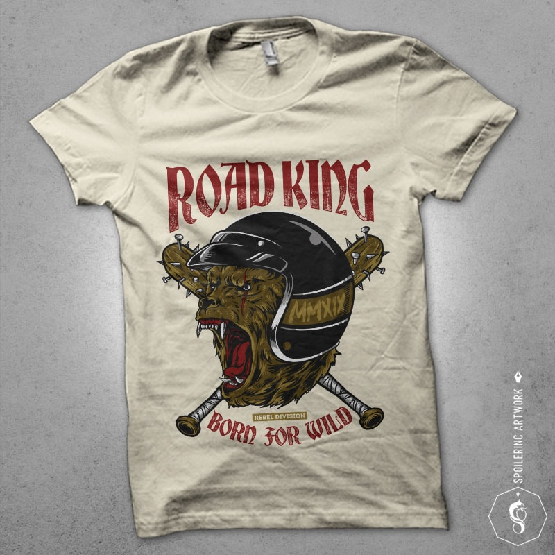 road king Graphic t-shirt design tshirt designs for merch by amazon